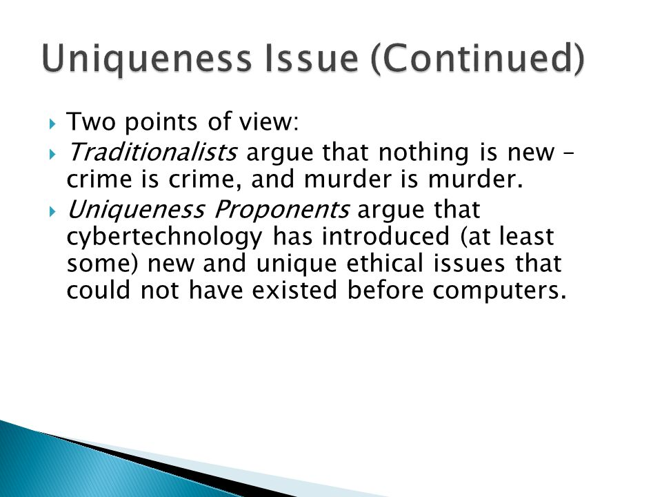 DisclosiveComputer Science Social Science (optional) Disclose embedded features in computer technology that have moral import TheoreticalPhilosophyTest newly disclosed features against standard ethical theories ApplicationComputer Science Philosophy Social Science Apply standard or newly revised/ formulated ethical theories to the issues Level Disciplines InvolvedTask/Function