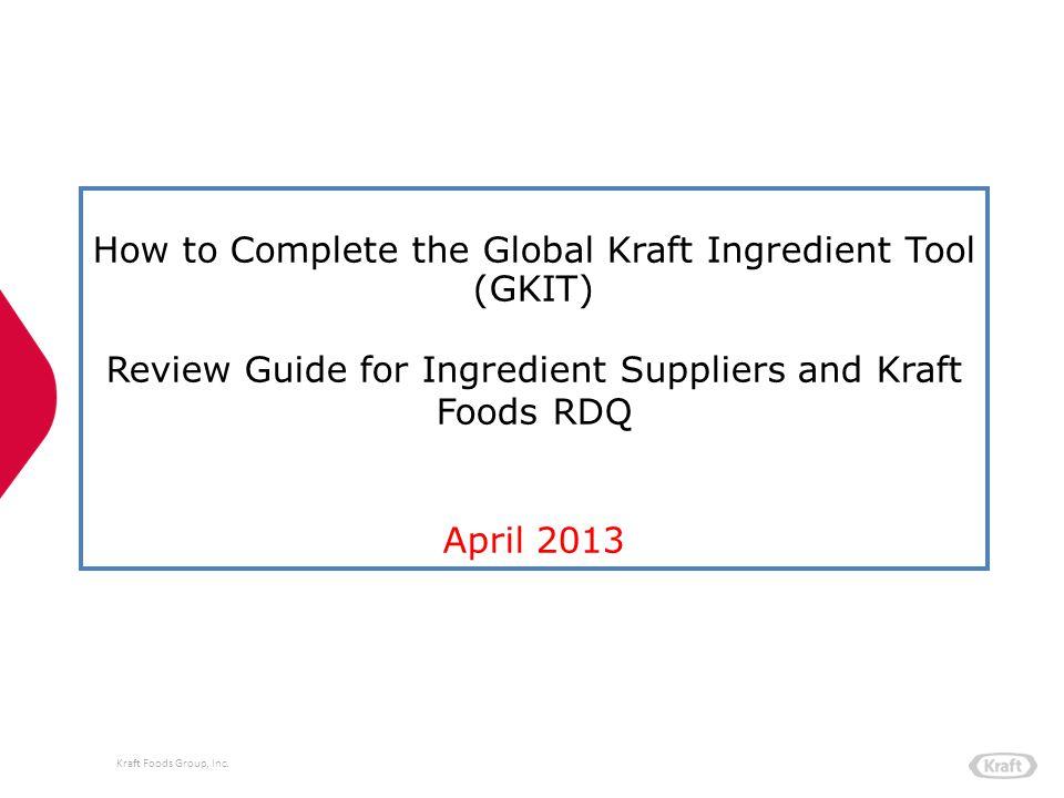 Kraft Foods Group, Inc.