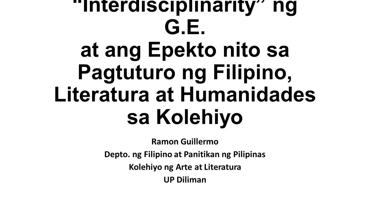 Interdisciplinarity ng G.E.