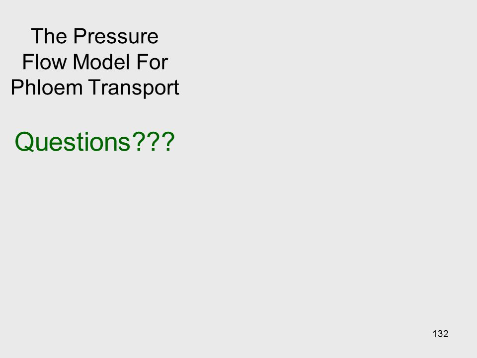 132 The Pressure Flow Model For Phloem Transport Questions???