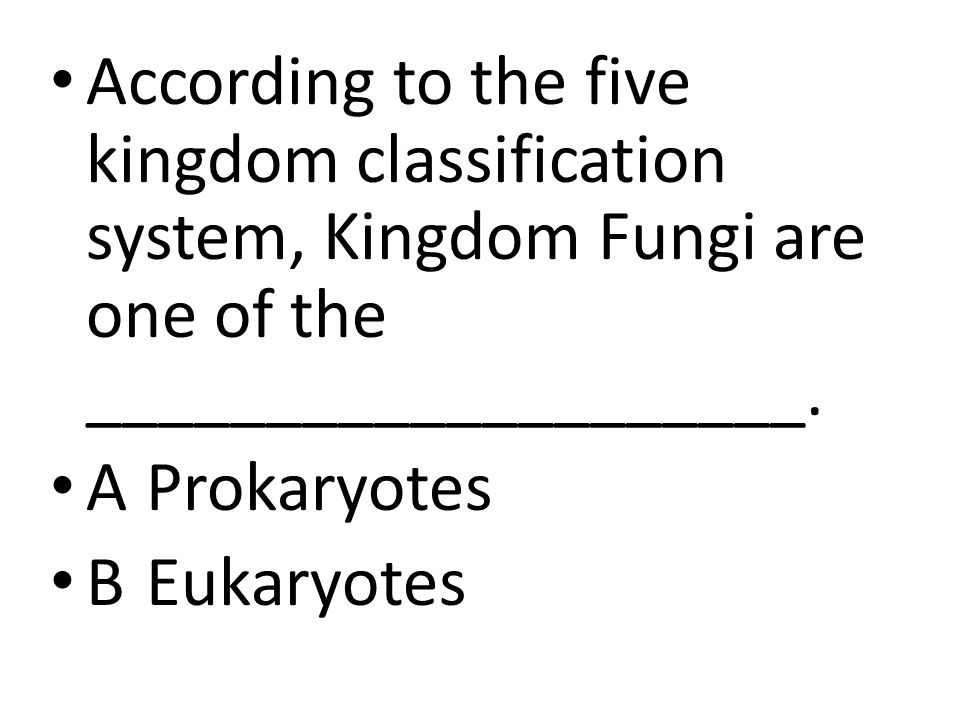 According to the five kingdom classification system, Kingdom Fungi are one of the ____________________.
