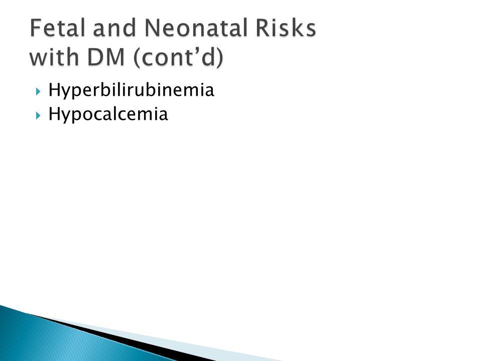  Hyperbilirubinemia  Hypocalcemia