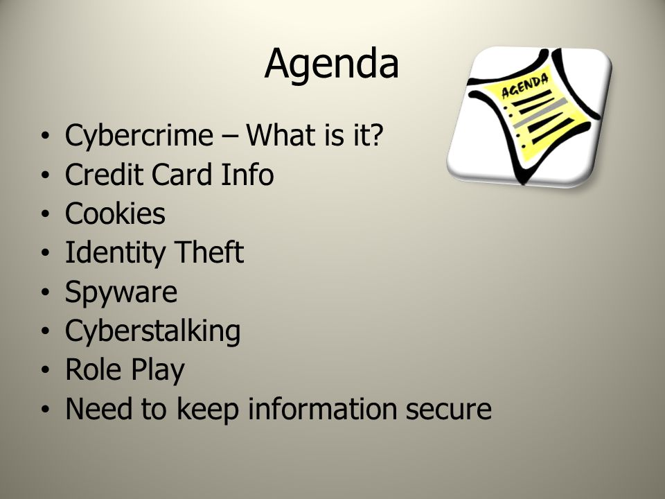 Agenda Cybercrime – What is it.
