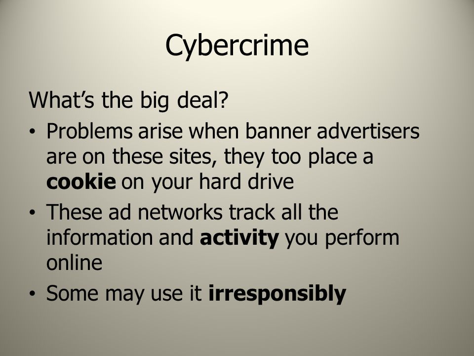 Cybercrime What's the big deal.