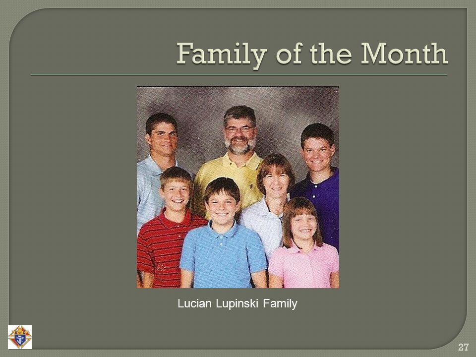 27 Lucian Lupinski Family