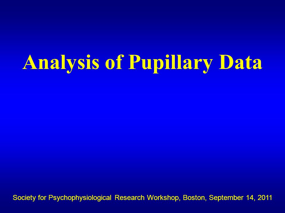 Statistics available on every trial via p.stats=pupiltrialstats(p) Whole trial: % blinks, blink_in baseline, mean amplitude, slope Trial Segments: mean baseline amplitude Relative to peak: peak, peak latency,, Slope post peak Within a window: mean amplitude, peak, peak latency, max, min, slope Relative to stimulus: Peak amplitude post stimulus, peak latency post stimulus, Relative to rt: peak amplitude post rt, slope post rt The Pupil Toolkit