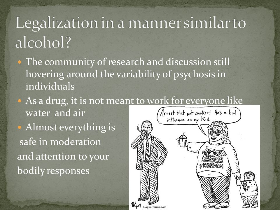 The community of research and discussion still hovering around the variability of psychosis in individuals As a drug, it is not meant to work for ever