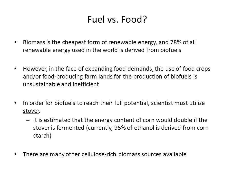Fuel vs.Food.