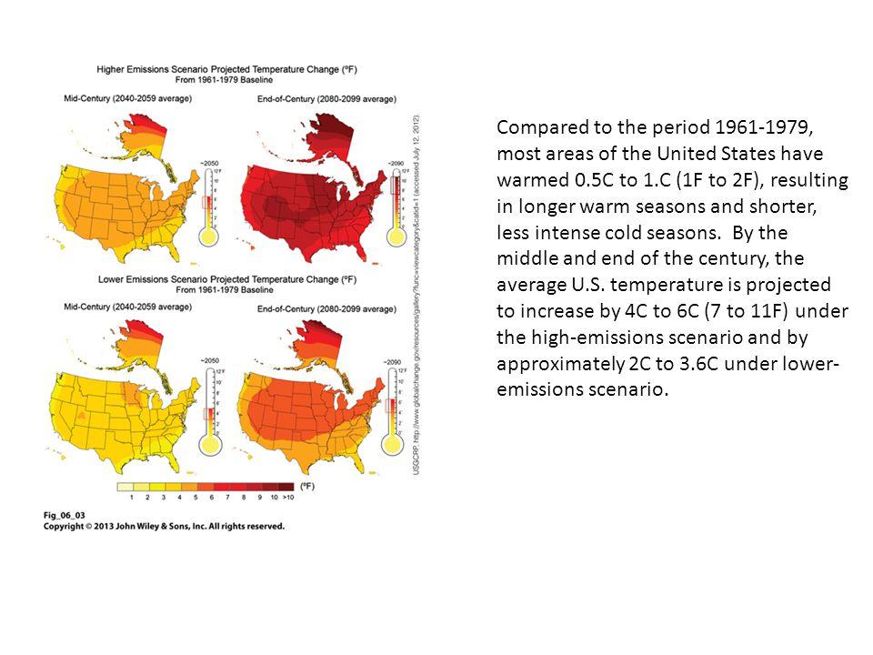 Precipitation Trends Over the past 50 years the annual precipitation in U.S.