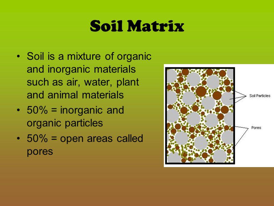 What is in soil.