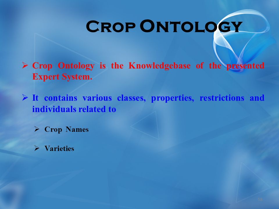 Crop Ontology  Crop Ontology is the Knowledgebase of the presented Expert System.