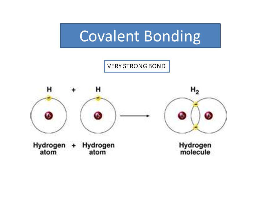 Covalent Bonding VERY STRONG BOND