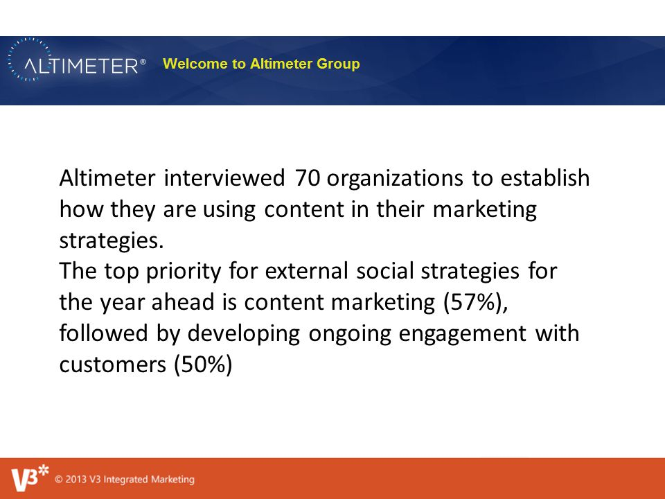 Altimeter interviewed 70 organizations to establish how they are using content in their marketing strategies.