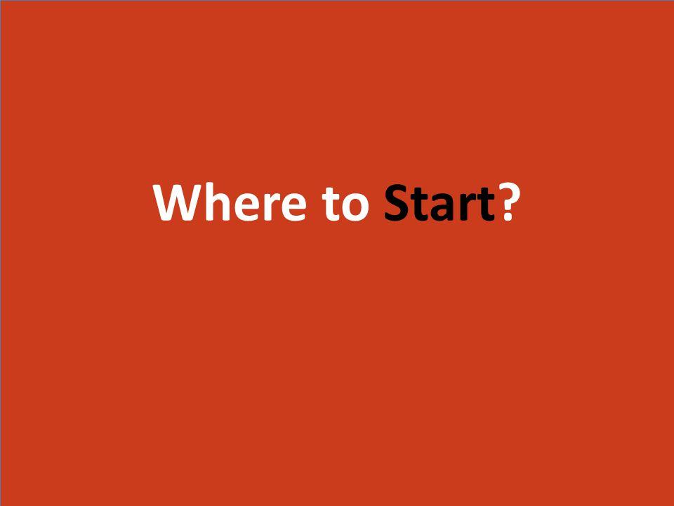 Where to Start Where to Start