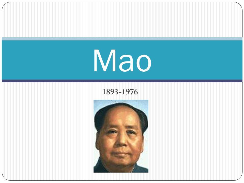 1893-1976 Mao