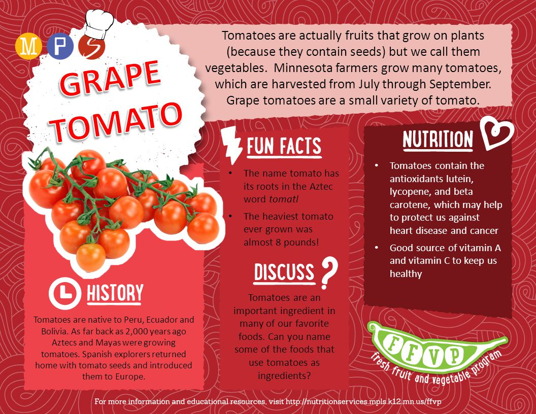 Tomatoes are actually fruits that grow on plants (because they contain seeds) but we call them vegetables.
