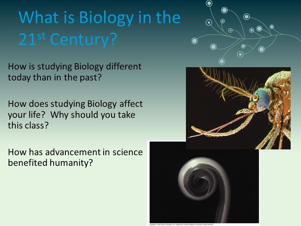 What is Biology in the 21 st Century? How is studying Biology different today than in the past? How does studying Biology affect your life? Why should