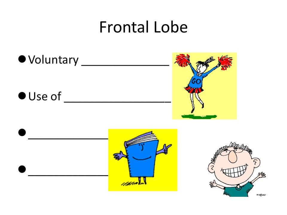 Frontal Lobe Voluntary ______________ Use of _________________ _____________