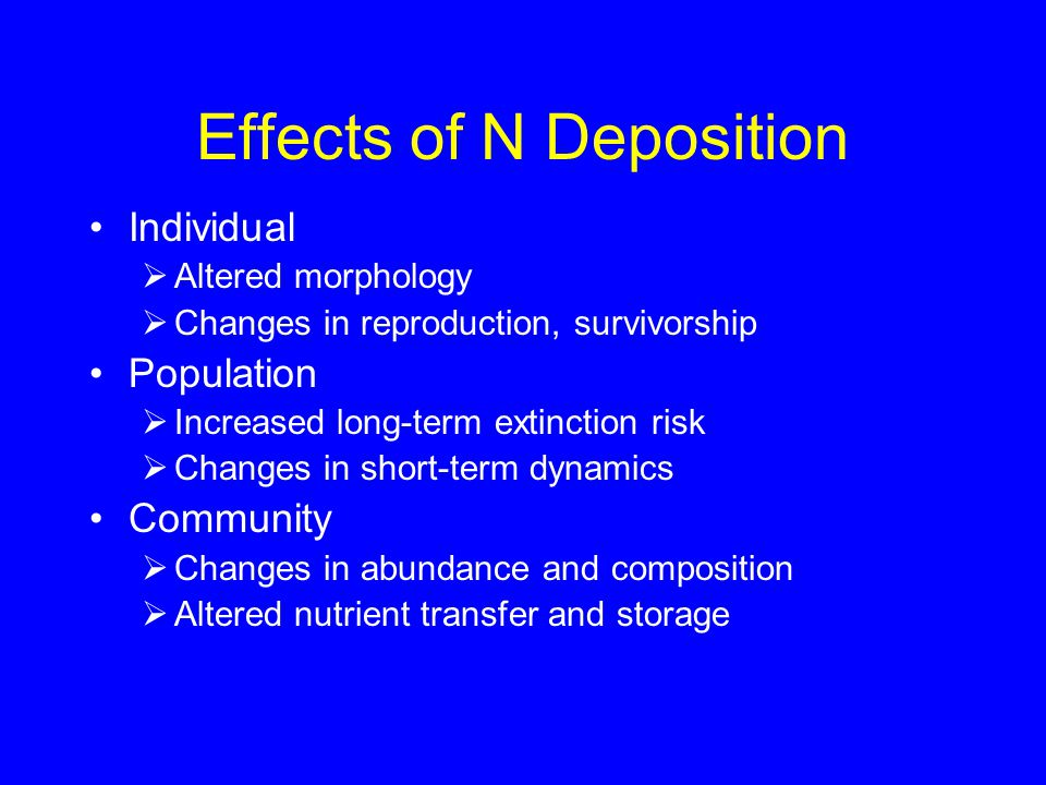 Modeling Demographic Transitions as a Function of Nitrogen