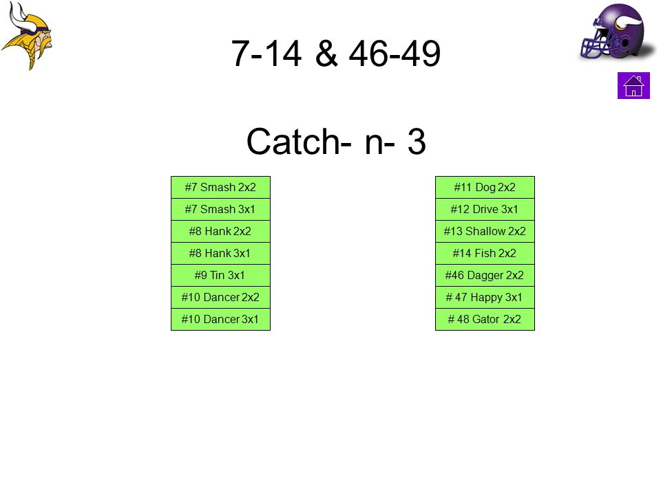 7-14 & 46-49 Catch- n- 3 #7 Smash 2x2 #7 Smash 3x1 #8 Hank 2x2 #8 Hank 3x1 #9 Tin 3x1 #10 Dancer 2x2 #10 Dancer 3x1 #11 Dog 2x2 #12 Drive 3x1 #13 Shal
