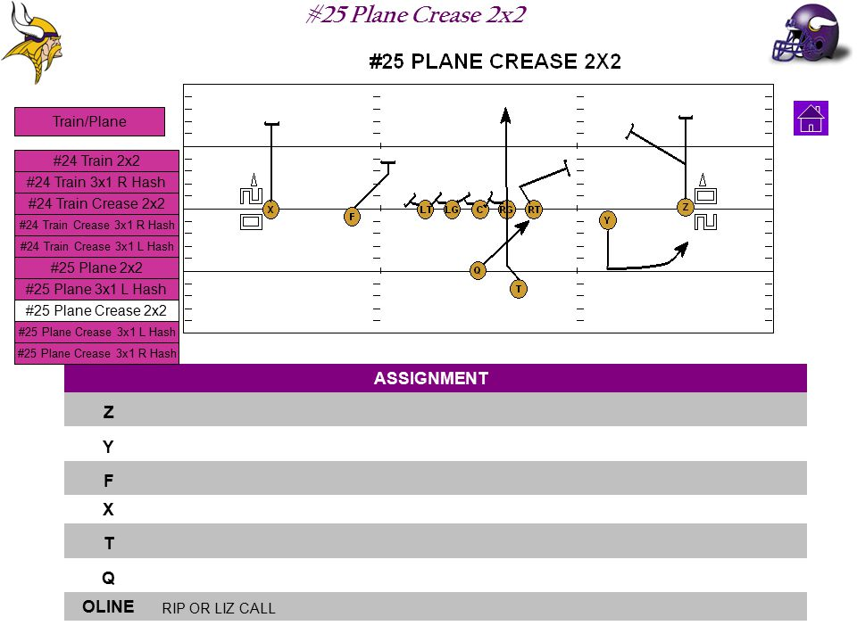 #25 Plane Crease 2x2 ASSIGNMENT Z Y F X T Q OLINE RIP OR LIZ CALL #24 Train 2x2 #24 Train 3x1 R Hash #24 Train Crease 2x2 #24 Train Crease 3x1 L Hash