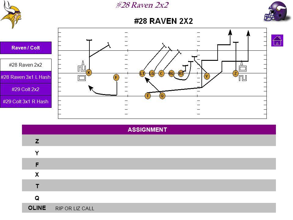 #28 Raven 2x2 ASSIGNMENT Z Y F X T Q OLINE RIP OR LIZ CALL Raven / Colt #28 Raven 2x2 #28 Raven 3x1 L Hash #29 Colt 2x2 #29 Colt 3x1 R Hash