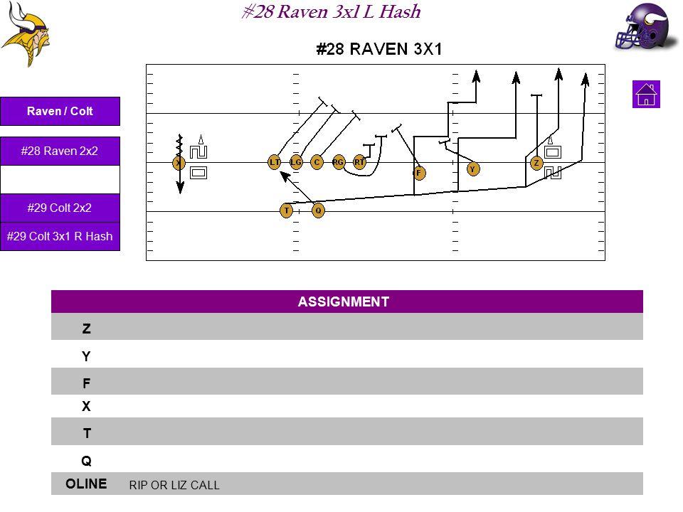 #28 Raven 3x1 L Hash ASSIGNMENT Z Y F X T Q OLINE RIP OR LIZ CALL Raven / Colt #28 Raven 2x2 #28 Raven 3x1 L Hash #29 Colt 2x2 #29 Colt 3x1 R Hash