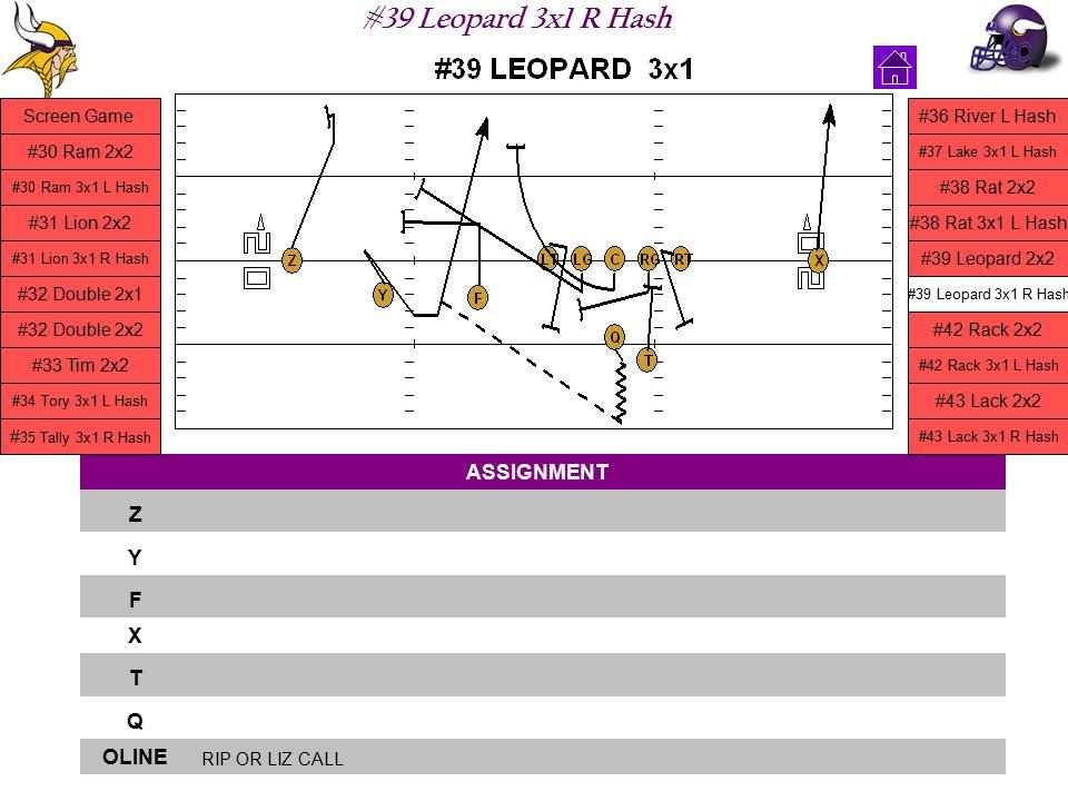 #39 Leopard 3x1 R Hash ASSIGNMENT Z Y F X T Q OLINE RIP OR LIZ CALL Screen Game #30 Ram 2x2 #30 Ram 3x1 L Hash #31 Lion 2x2 #31 Lion 3x1 R Hash #32 Do