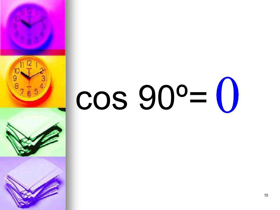 10 cos 90º=