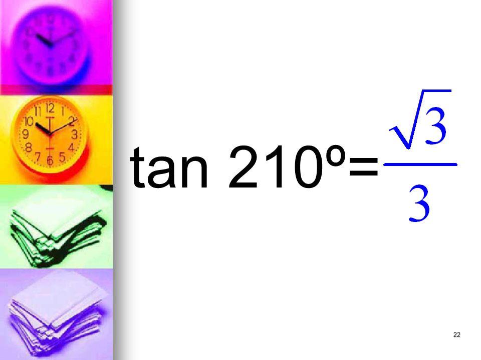 22 tan 210º=