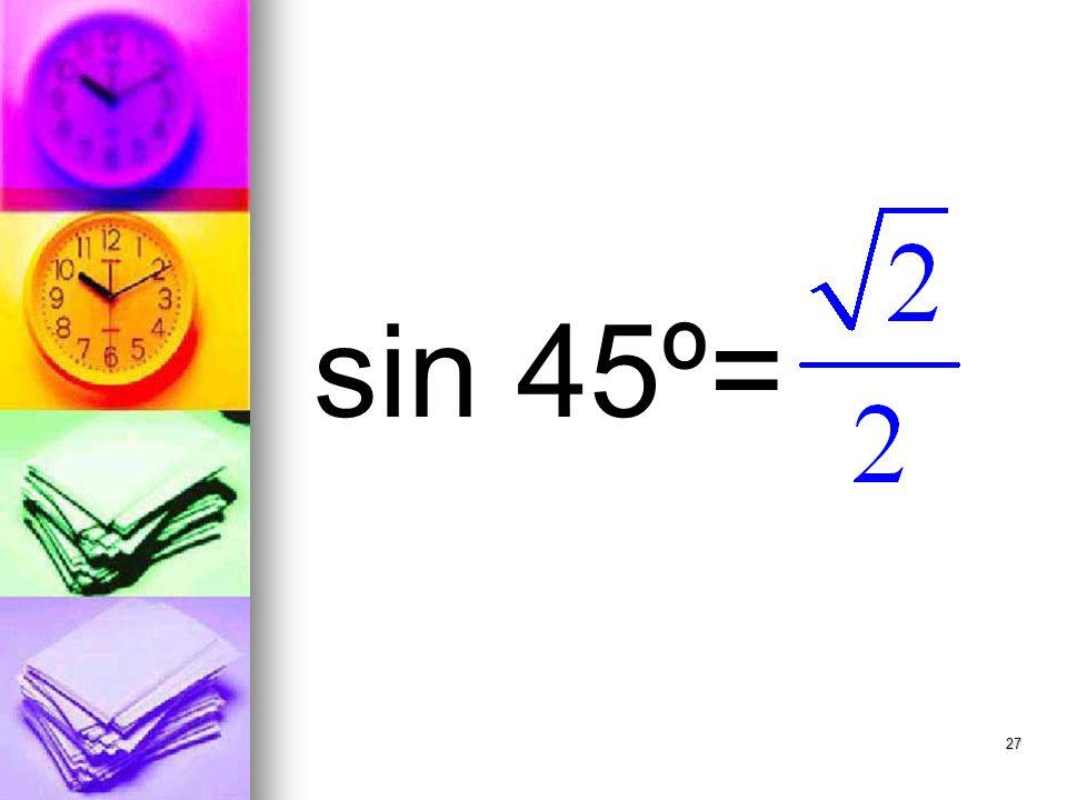 27 sin 45º=