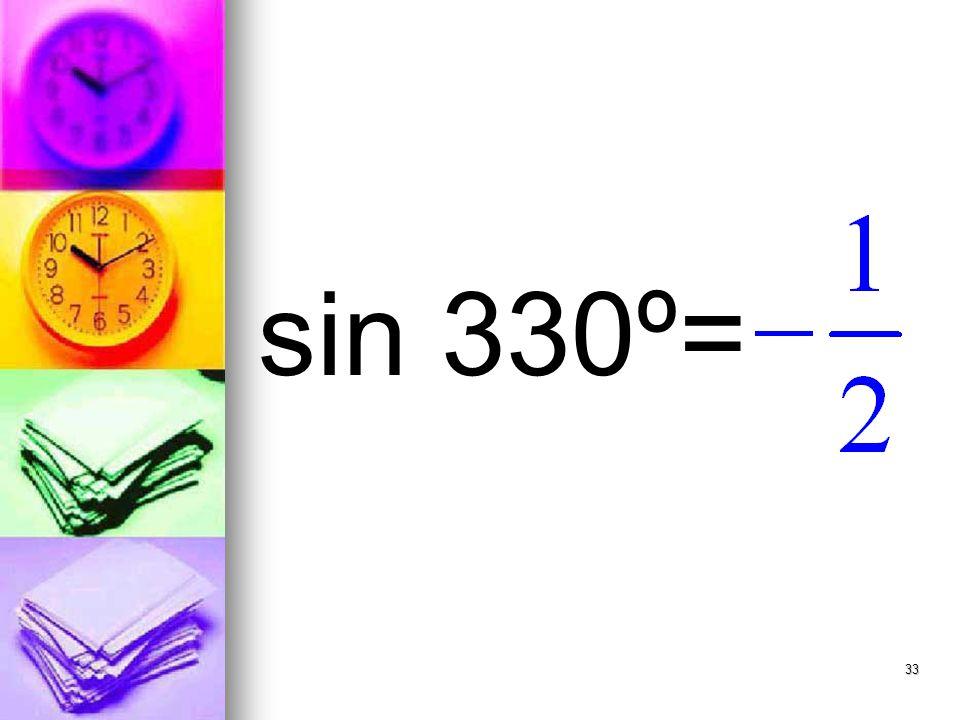33 sin 330º=