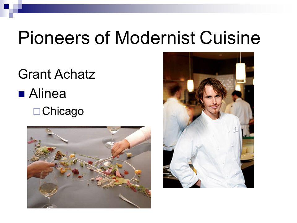 Pioneers of Modernist Cuisine Grant Achatz Alinea  Chicago