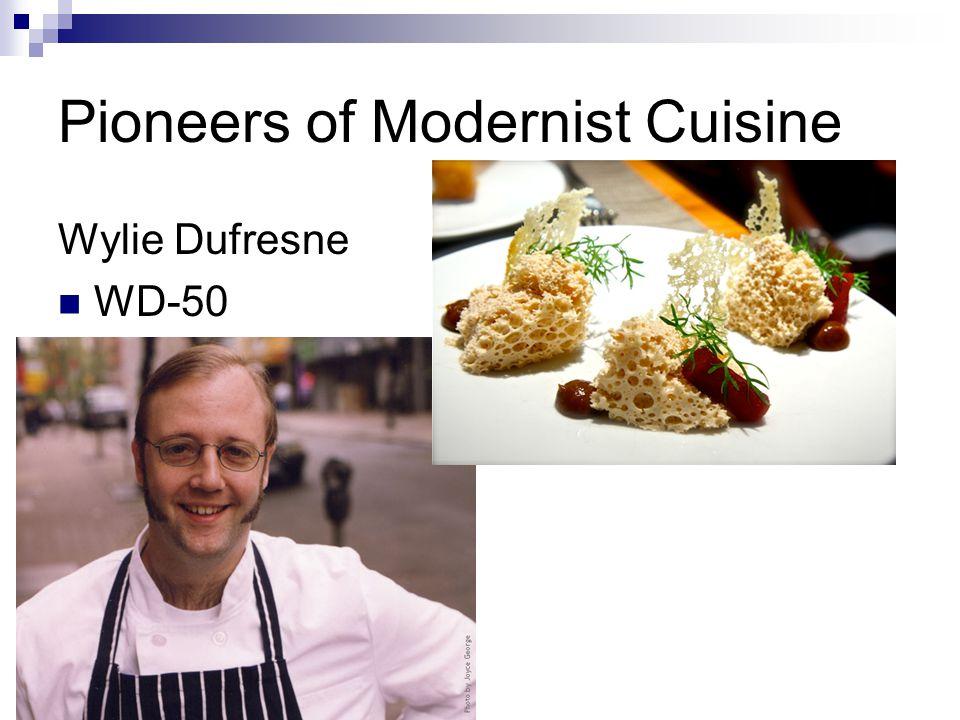 Pioneers of Modernist Cuisine Wylie Dufresne WD-50  New York