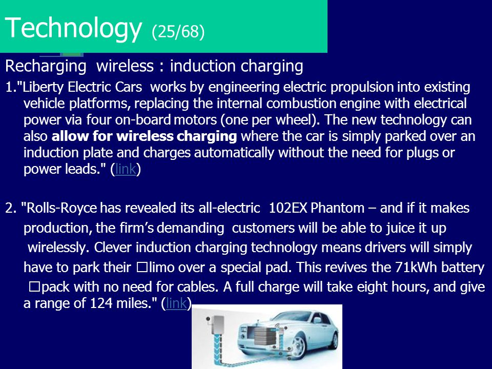 Technology (25/68) Recharging wireless : induction charging 1.