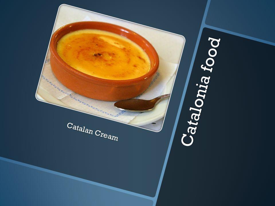 Catalonia food Catalan Cream