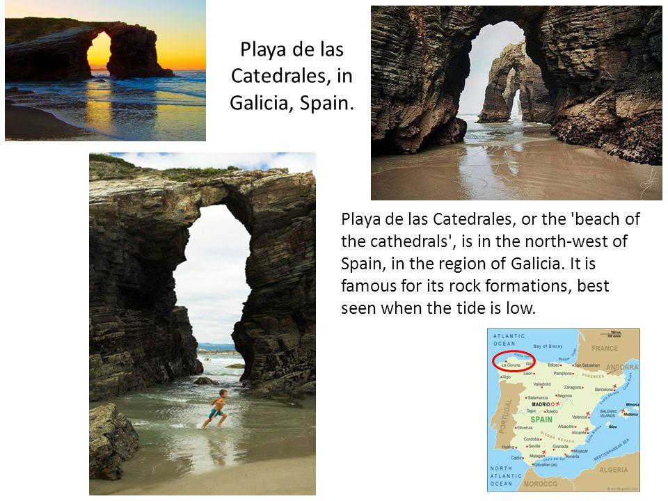 Playa de las Catedrales, in Galicia, Spain.