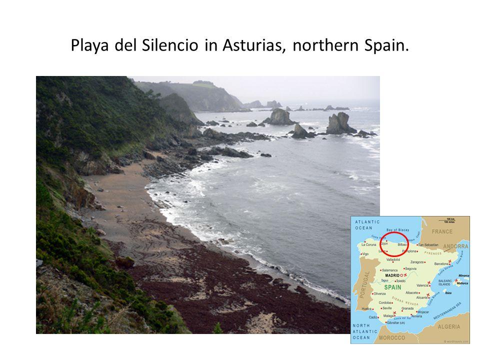 Playa del Silencio in Asturias, northern Spain.