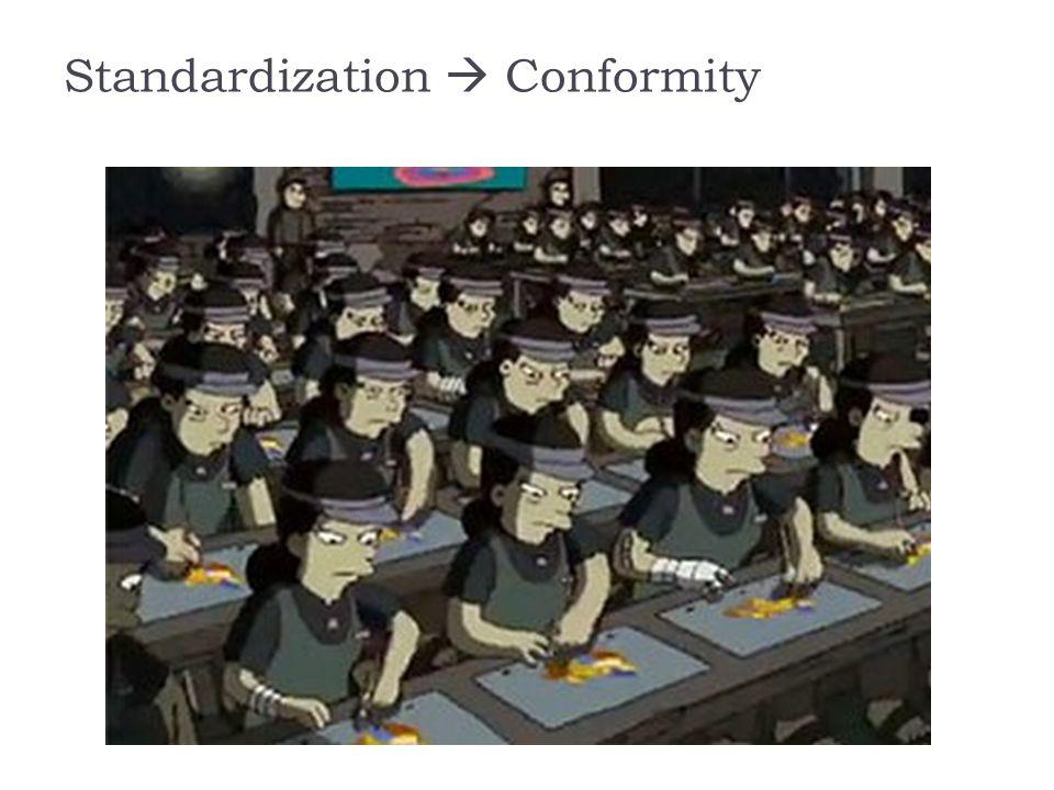 Standardization  Conformity