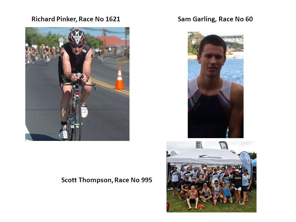 Richard Pinker, Race No 1621Sam Garling, Race No 60 Scott Thompson, Race No 995