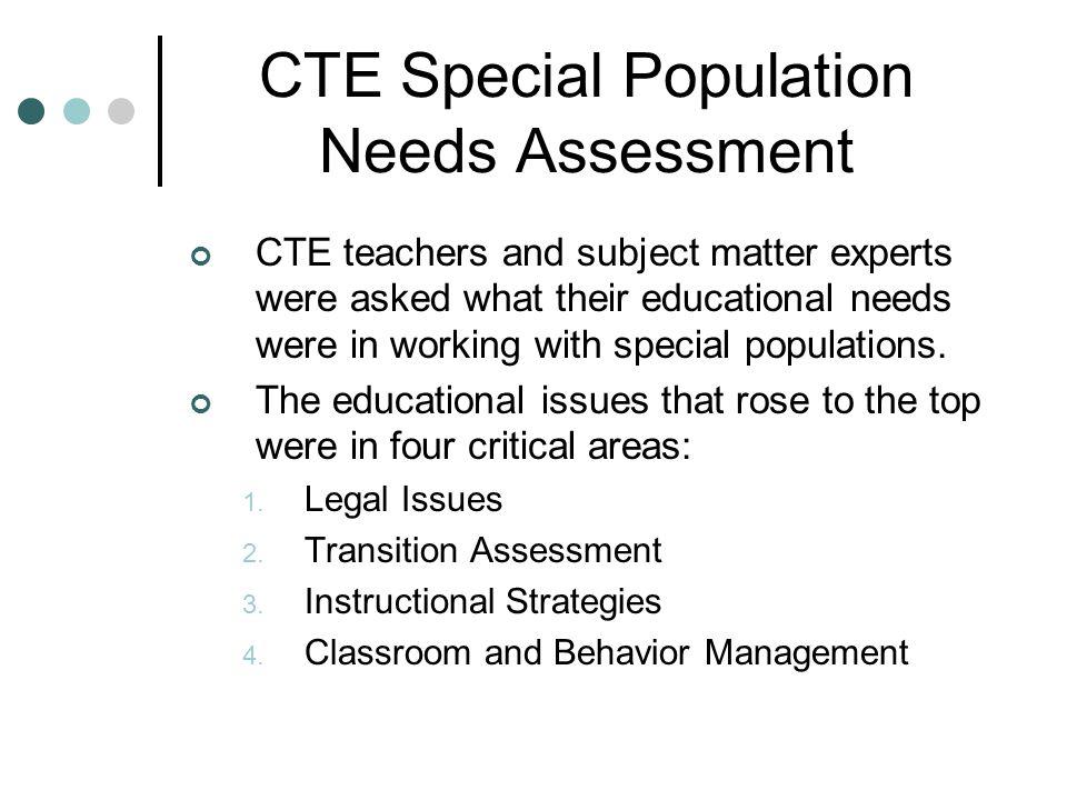 Classroom/Behavior Management Objective: Acquaint CTE teachers with strategies for classroom and behavior management.