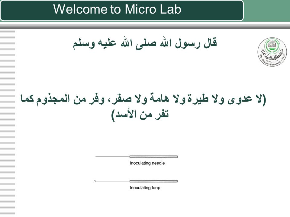 General Microbiology Laboratory Introduction to Micro Lab
