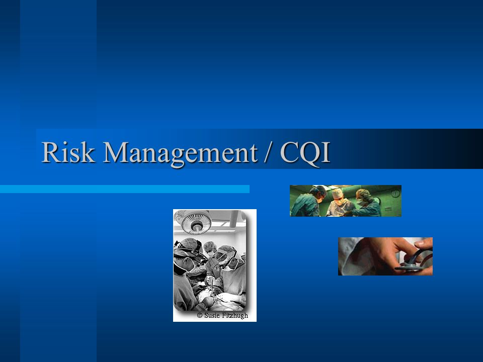 Risk Management / CQI