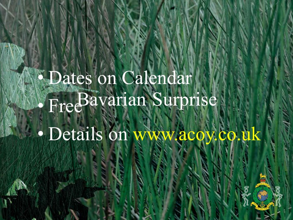 Bavarian Surprise Dates on Calendar Free Details on www.acoy.co.uk