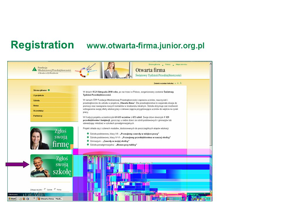 Registration www.otwarta-firma.junior.org.pl