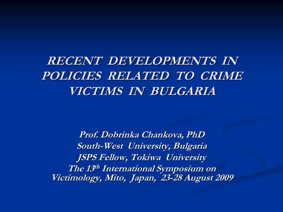 Informing crime victims of their rights A special chapter (two) of the Law A special chapter (two) of the Law Legal obligation of the bodies of the Ministry of Interior and the victim support organizations to notify the victims of : Legal obligation of the bodies of the Ministry of Interior and the victim support organizations to notify the victims of : -the organizations the victims can turn to for free psychological help and support - the types of free psychological help and support - the types of free psychological help and support