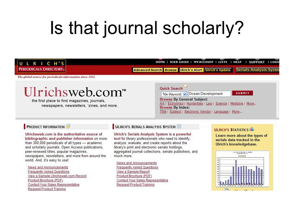 Is that journal scholarly?