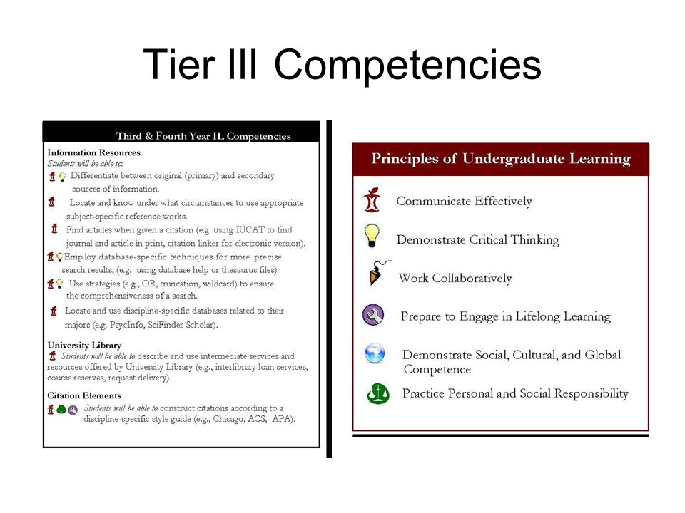Tier III Competencies