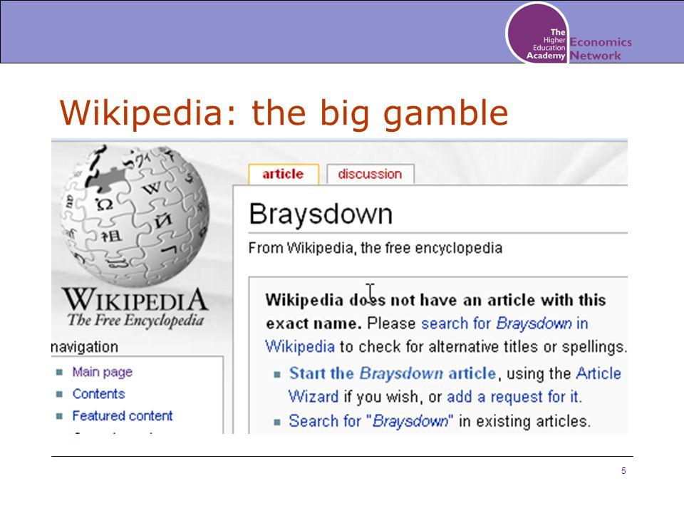 5 Wikipedia: the big gamble