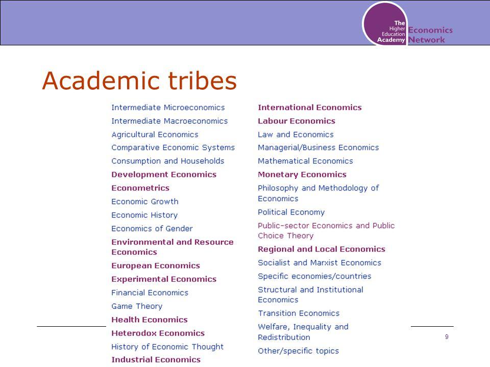 9 Academic tribes